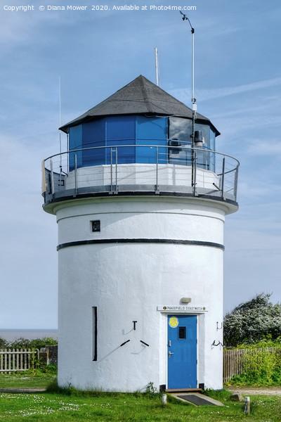 Pakefield Coastwatch lighthouse  Print by Diana Mower