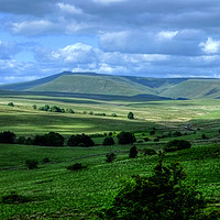 Buy canvas prints of Brecon Beacons Pen y Fan Wales by Diana Mower