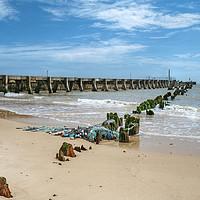 Buy canvas prints of Walberswick Beach Suffolk by Diana Mower
