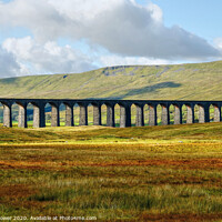 Buy canvas prints of Ribblehead Viaduct Settle Carlisle line, Yorkshire by Diana Mower