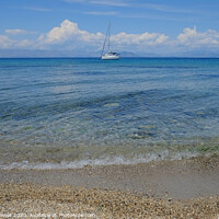 Buy canvas prints of Corfu beach Greece by Diana Mower