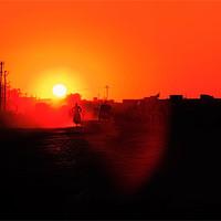 Buy canvas prints of Long Dusty road to Dwarka by Arfabita