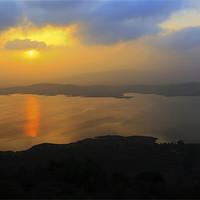Buy canvas prints of Dawn landscape on Lake Pavna India by Arfabita