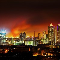Buy canvas prints of Fire in the hold Bandra Bombay by Arfabita