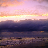 Buy canvas prints of Storm Below the Sunset by Susan Medeiros