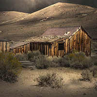 Buy canvas prints of Bodie Ghost Town Shack in the Moonlight by paul lewis