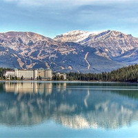 Buy canvas prints of Lake Louise Chateau by World Images