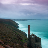Buy canvas prints of Wheal Coates Mine Sunset by Jonathan Swetnam