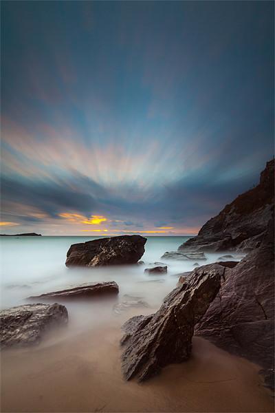 Lust Glaze Cove at Sunset - Long Exposure Canvas print by Jonathan Swetnam