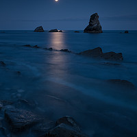 Buy canvas prints of Mupe Bay Full Moon by Ashley Chaplin