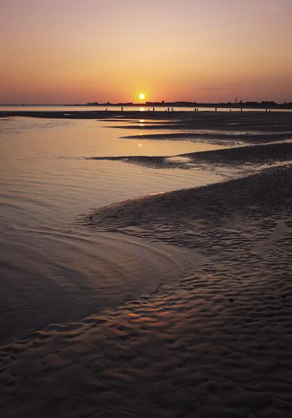 Sunset on Hayling Island Print by Ashley Chaplin