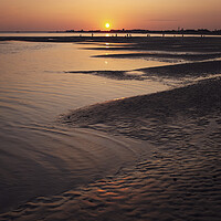 Buy canvas prints of Sunset on Hayling Island by Ashley Chaplin