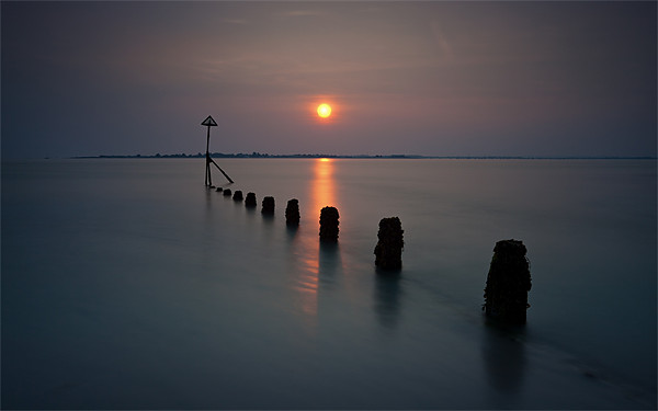 West Wittering Sunset Canvas print by Ashley Chaplin