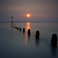 Buy canvas prints of West Wittering Sunset by Ashley Chaplin