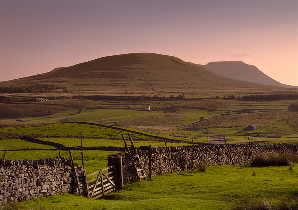 Distant Ingleborough Hill Canvas print by Ashley Chaplin