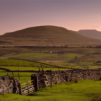 Buy canvas prints of Distant Ingleborough Hill by Ashley Chaplin