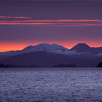 Buy canvas prints of Lake Taupo Sunset by Ashley Chaplin