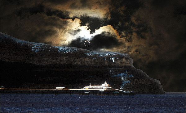 Great Orme Eclipse Canvas print by Mike Shields