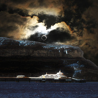 Buy canvas prints of Great Orme Eclipse by Mike Shields