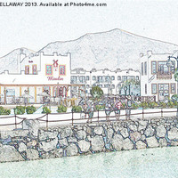 Buy canvas prints of Restaurants in Rubicon Harbour by Anthony Kellaway