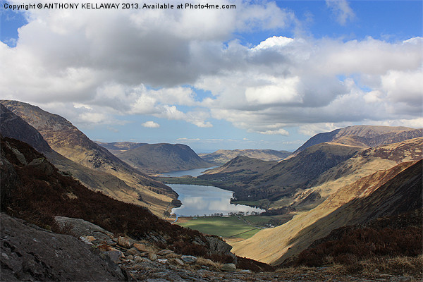 BUTTERMERE FROM HAYSTACKS Canvas print by Anthony Kellaway