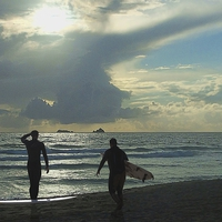 Buy canvas prints of  Waiting for the surf by Anthony Kellaway