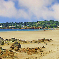 Buy canvas prints of  ST. BRELADES BAY JERSEY by Anthony Kellaway