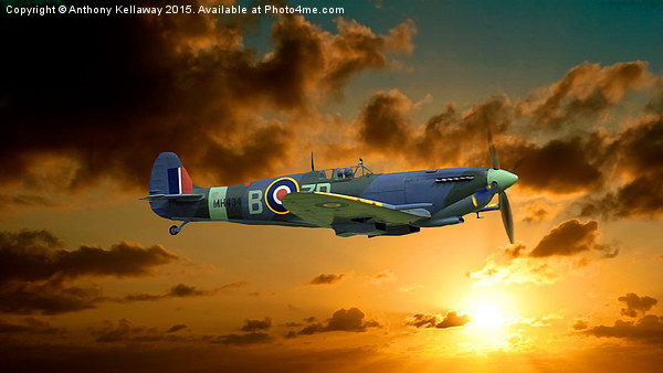 SPITFIRE MH434 Canvas print by Anthony Kellaway