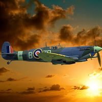 Buy canvas prints of  SPITFIRE MH434 by Anthony Kellaway