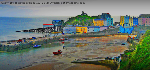 Tenby  Canvas print by Anthony Kellaway