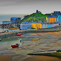 Buy canvas prints of Tenby  by Anthony Kellaway