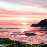 Buy canvas prints of         TREVONE BEACH  SUNSET                      by