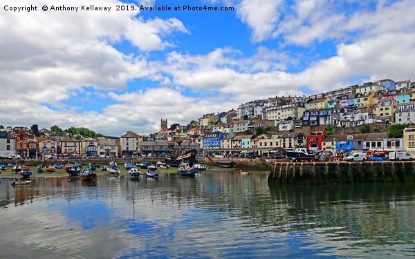 Brixham harbour Devon                           Framed Print by Anthony Kellaway