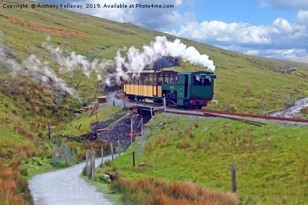 SNOWDON MOUNTAIN RAILWAY                        Canvas print by Anthony Kellaway