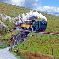 Buy canvas prints of    SNOWDON MOUNTAIN RAILWAY                        by Anthony Kellaway