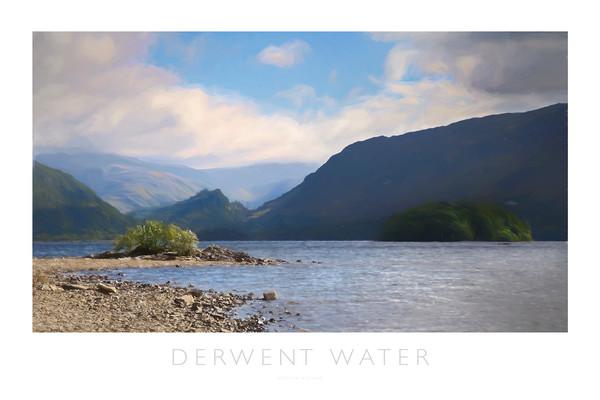 Derwent Water Canvas Print by Andrew Roland