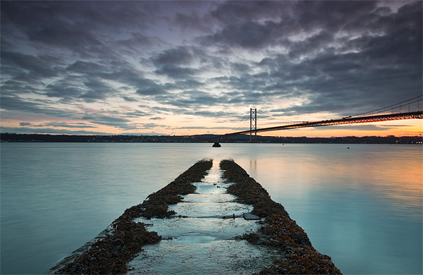 Forth Road bridge sunset Canvas Print by James Marsden