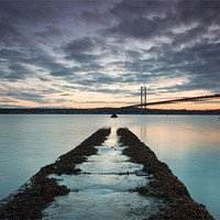 Buy canvas prints of Forth Road bridge sunset by James Marsden