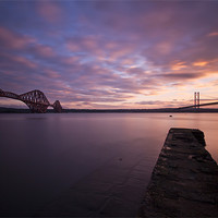 Buy canvas prints of Forth road bridge and forth rail bridge by James Marsden