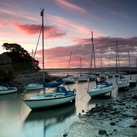 Buy canvas prints of Cramond sunset by James Marsden