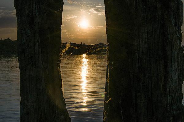 Sunset on the lake Canvas print by Chiara Cattaruzzi