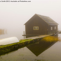 Buy canvas prints of Boat house in mist by Kathleen Smith (kbhsphoto)