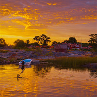 Buy canvas prints of Summer sunset by the sea by Kathleen Smith (kbhsphoto)