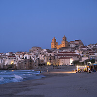 Buy canvas prints of Cefalu, Sicily,  by peter schickert