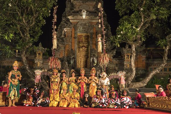 Bali dancer Ubud, Bali Framed Mounted Print by peter schickert