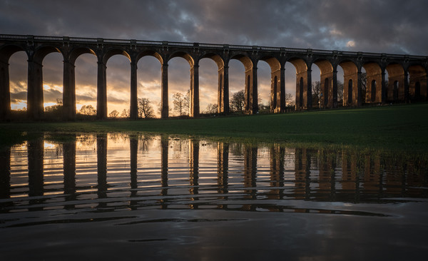 Ouse Valley Viaduct Framed Print by Sue MacCallum Stewart
