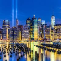 Buy canvas prints of Manhattan NYC 911 Tribute by Susan Candelario