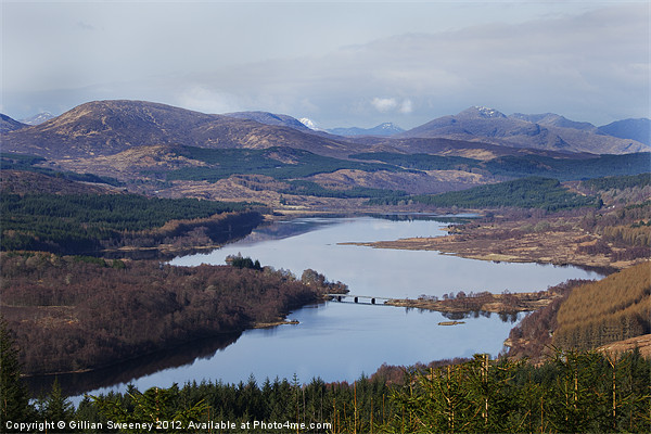 Loch Garry Scotland Canvas print by Gillian Sweeney