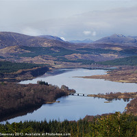 Buy canvas prints of Loch Garry Scotland by Gillian Sweeney
