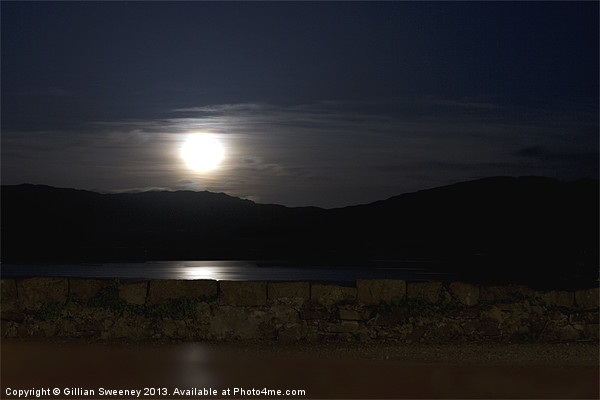 Moonlight reflection Canvas print by Gillian Sweeney